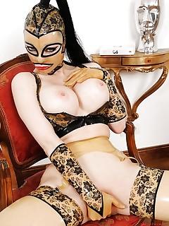 Naked girls wearing nothing but masks