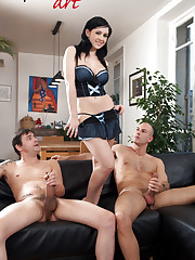 Angell Summers, busty brunette, moutfull and fist-fucked!