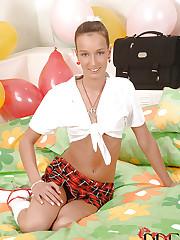 Birthday blowjob schoolgirl style
