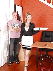 Katarina takes cock in her office