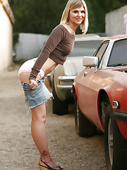 Who doesn't love pink panties, denim mini skirts and old..