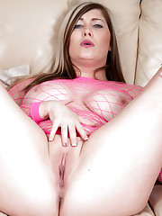 Michelle B uses toy on boobies and pussy