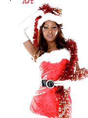 Perfect Cuban & busty babe Katia De Lys: miss Santa stripping!