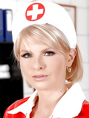 Hot nasty nurse Wiska in stockings