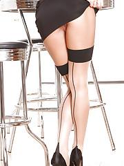 Secretary Alektra Blue in Stockings