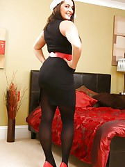 Jenkins looks amazing in this black minidress and..