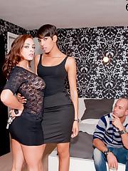 Liza Del Sierra, Jasmine Arabia and Mike Angelo: anal..