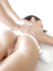 Fine brunette gets a really perverted massage.