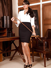 Sasha is one sexy teacher who knows how to punish her..