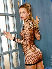 Wow thats hot linda in extreme fishnet dress makes me feel..