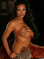 Sexy busty Alluring Vixen Melanie Elyza shows off in a..