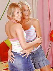 Teen blondes having foot fetish sex