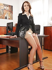 Denise masturbating in the office!