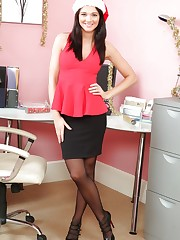 Nickie-Ann in the office
