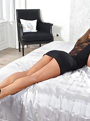 Fit brunette Amirah Adara reveals her natural big tits