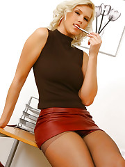 Saucy secretary Amy G loves to make a good impression in..