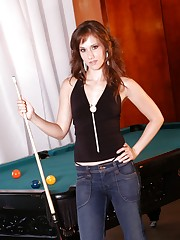 Victoria gets a little horny from playing pool and starts to..