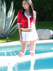 Naughty Catie Minx goes back to school as a sorority..