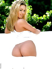 is an adorable blonde with a beautiful ass