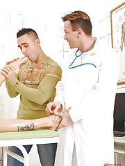Doctors foot fetish examination!