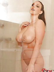 Angela showering her succulent tits