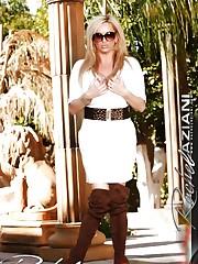 Beautiful busty blonde, Rachel Aziani, is so hot in her..