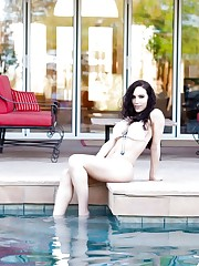 Katie by the pool
