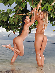 Naked babes at the beach