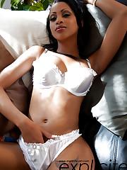 Perfect Cuban and busty sexy babe Katia De Lys alone at..