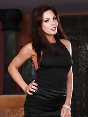 Kirsten Price strips out of her sexy black dress!