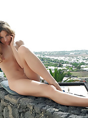 Antea flaunts her slender, naked body and perky tits..