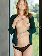 Cute and youthful Patritcy A shows off her smooth body and..