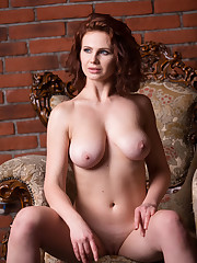 Aphrodita displays her gorgeous tits and luscious body on..
