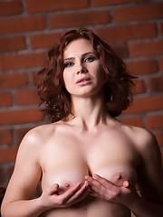 Aphrodita displays her gorgeous tits and luscious body on..