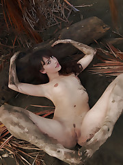 Alluring Lorena gets dirty as she playfully poses on the..
