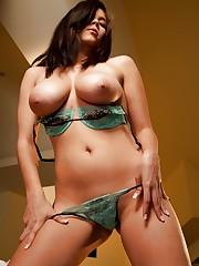 drops her moist light green panties