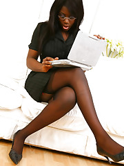 Stunning secretary Ola can't wait to show us the gorgoues red..