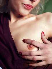 Slender blonde Liuba breaks out her vibrator