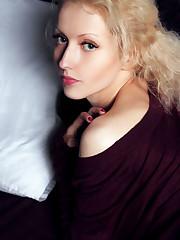 Slender blonde Liuba breaks out her vibrator