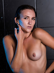 Indiana Black flaunts her wet, yummy body as she takes a..
