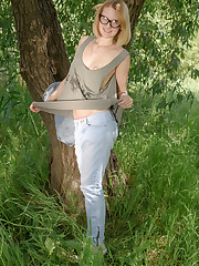 Blue-eyed cutie Mak enjoys the outdoors, posing and..