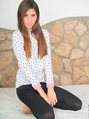Latina teen Mily Mendoza is yours to love with her super..