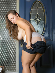 sophie in the doorway