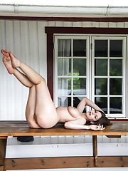 Stella Cox bares her gorgeous, flexible body as she poses..