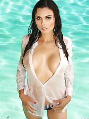 Busty Alluring Vixen Krystle Lina shows off her massive fun..