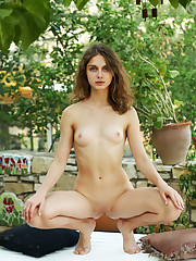 Alluring Clarice flaunts her tight body and pink pussy on..