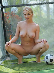 Busty Isabella D bares her luscious body as she plays..