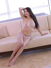 Niemira displays her delectabe body as she poses on the..