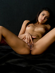 Cira Nerri flaunts her and petite body and plays with her..