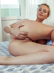 Caroline Abel performs a slow and sensual tease before..